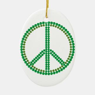 Green Peace Ceramic Ornament