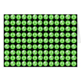 Green Peace Earth Bubbles Card