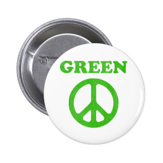 Green Peace (Earth Day) Button