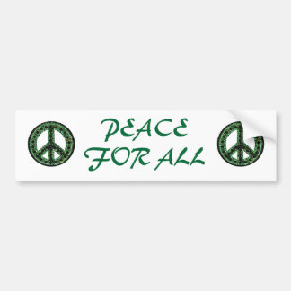green peace for all bumper sticker