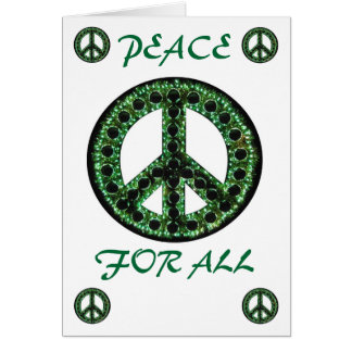 green peace for all greeting card