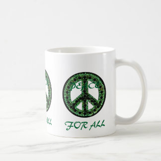green peace for all mug