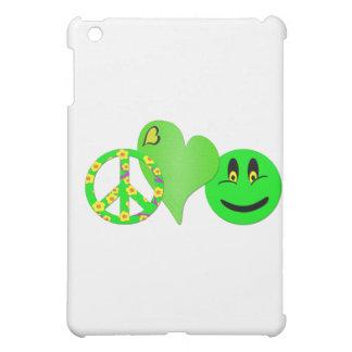 Green Peace Love Happiness iPad Mini Cases