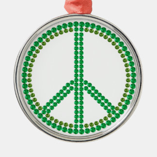 Green Peace Metal Ornament