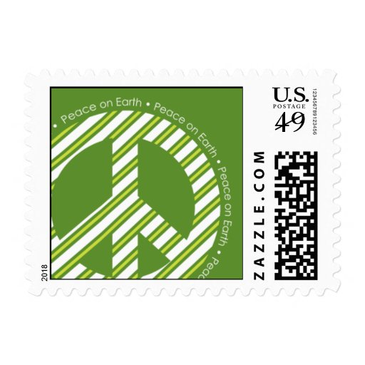 Green Peace on Earth Postage Stamp