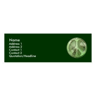 Green Peace on Earth Profile Card Business Card Templates