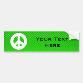 Green Peace Sign Car Bumper Sticker