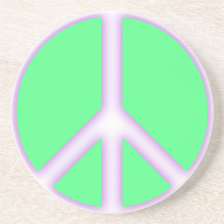 Green Peace Sign Coaster