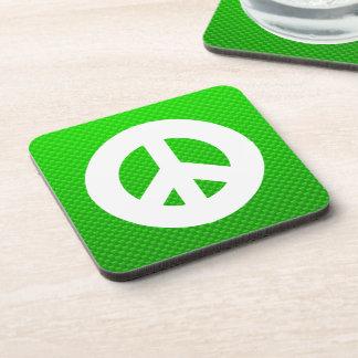 Green Peace Sign Coaster