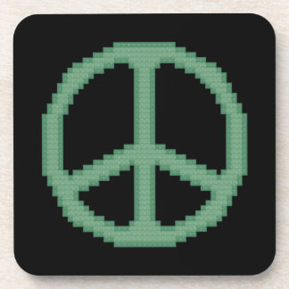 Green Peace Sign Coasters