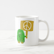 Green peace sign coffee mugs