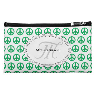 Green Peace Sign Cosmetic Bag