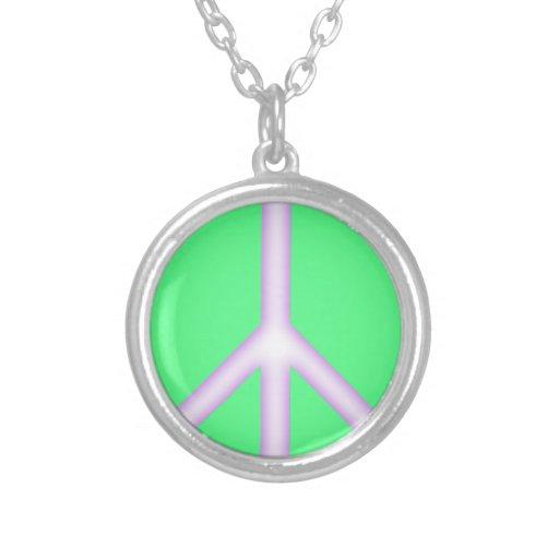 Green Peace Sign Custom Jewelry