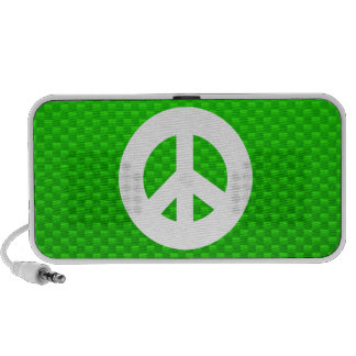 Green Peace Sign iPod Speakers