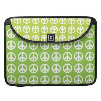 Green peace sign Macbook Pro Laptop Case MacBook Pro Sleeve