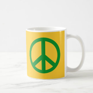 Green Peace Sign Products Classic White Coffee Mug