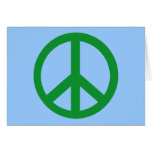 Green Peace Sign Products Greeting Cards
