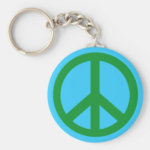 Green Peace Sign Products Key Chains