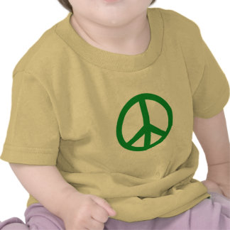 Green Peace Sign Products Tee Shirts