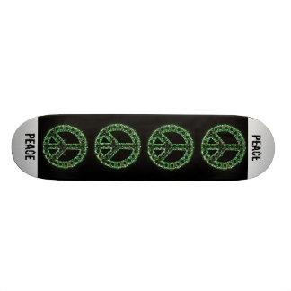 green peace sign skateboard