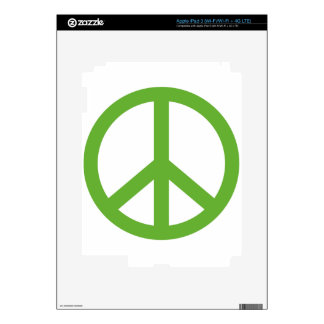 Green Peace Sign Symbol Decal For iPad 3