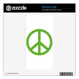 Green Peace Sign Symbol iPhone 4S Decal