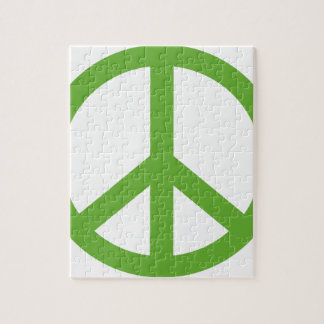 Green Peace Sign Symbol Jigsaw Puzzle