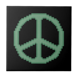Green Peace Sign Tile