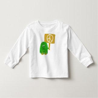 Green peace sign toddler t-shirt