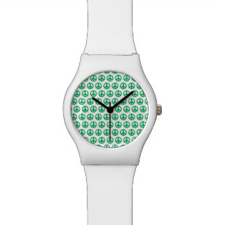 Green Peace Sign Watch