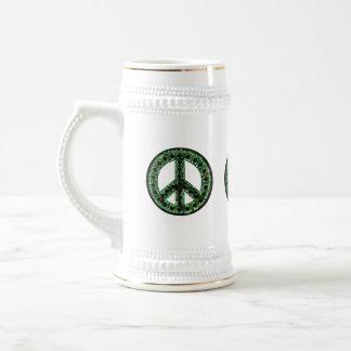 Green Peace Stein Coffee Mugs