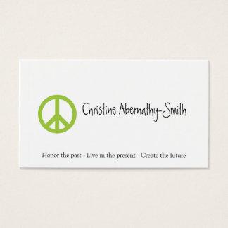 Green Peace Symbol Business Card