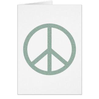 Green Peace Symbol Card