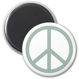 Green Peace Symbol Magnet