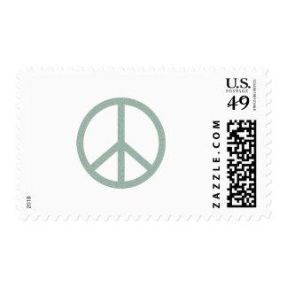 Green Peace Symbol Postage Stamp
