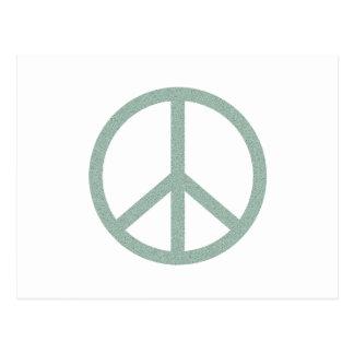 Green Peace Symbol Postcard