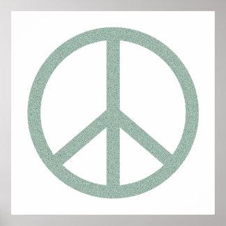 Green Peace Symbol Poster