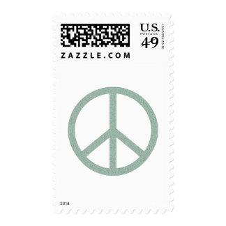 Green Peace Symbol Stamp