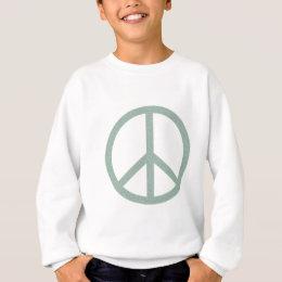 Green Peace Symbol Sweatshirt
