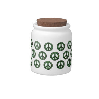 Green Peace Tiled Candy Jar
