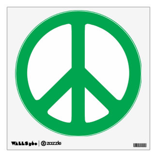 Green Peace Wall Decals