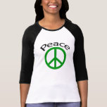 Green Peace & Word T-Shirt