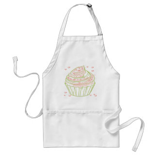 green_peach_cupcake_with_icing adult apron
