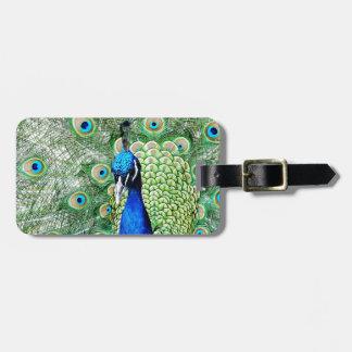 Green Peacock Bag Tag