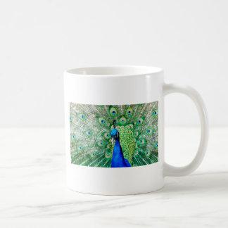 Green Peacock Coffee Mug