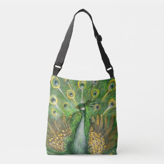 Green Peacock Crossbody Bag