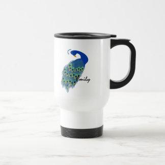 Green Peacock Designs Travel Mug