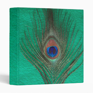 Green Peacock Feather Binder