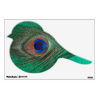 Green Peacock Feather Bird Wall Decal