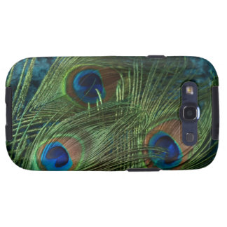 Green Peacock Feather Galaxy SIII Covers